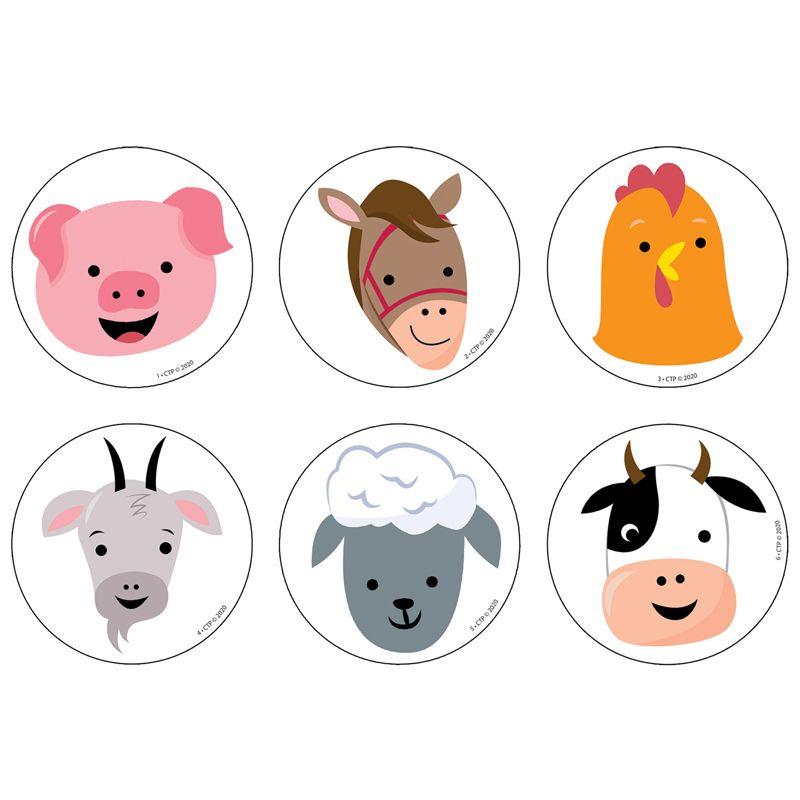 Farm Friends Farm Faces 3in Cutouts