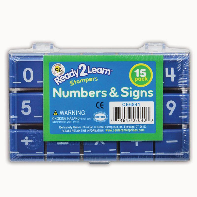Manuscript Numbers Stamp Set 1 Numbers & Signs