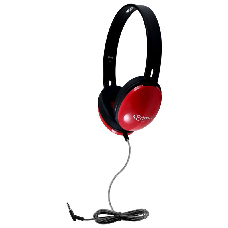 Primo Stereo Headphones Red