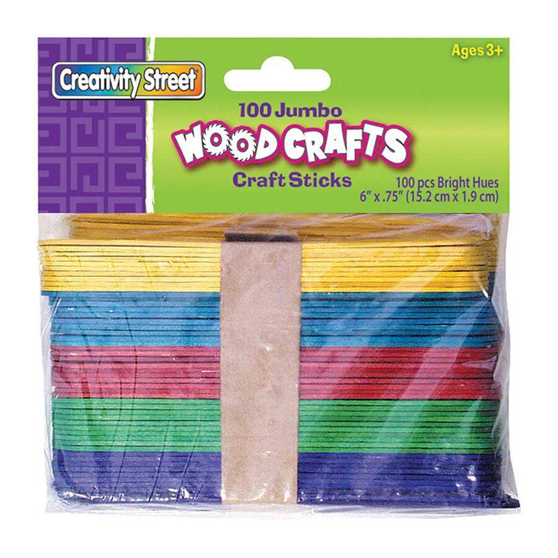 Jumbo Craft Sticks 6 X 3/4 100/Pk Bright Hues