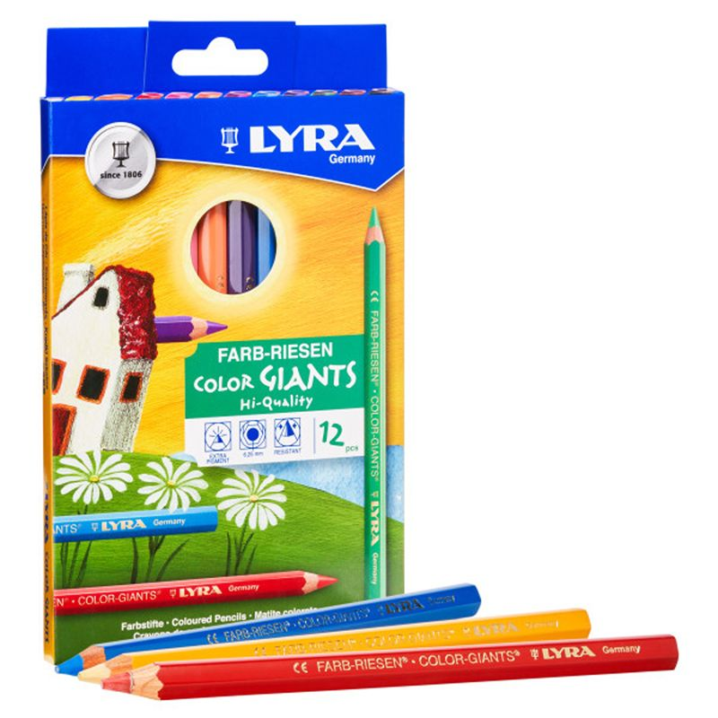 Giant Color Pencils Lacquered 12pk Lyra Color