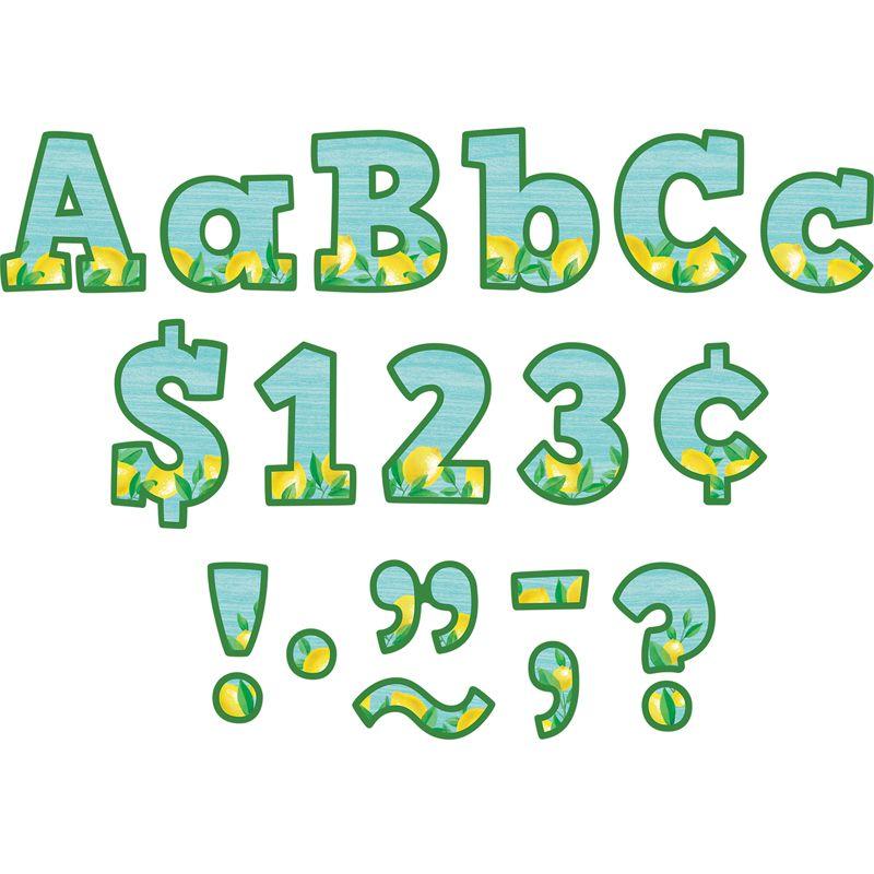Lemon Zest Bold Block 4in Letters Combo Pack