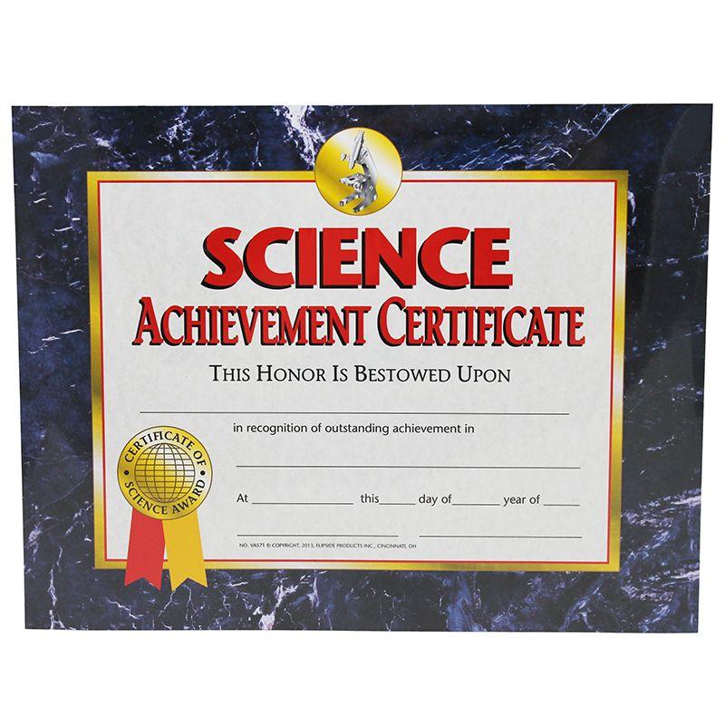 Science Achievement 30/Pk 8.5 X 11 Certificates