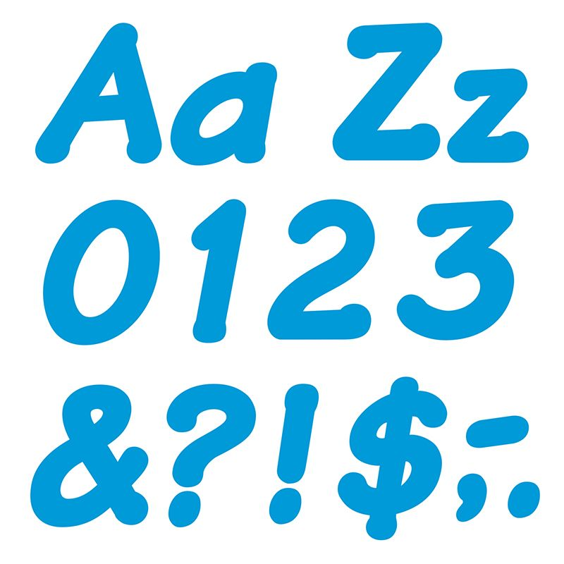Ready Letters 4 Inch Italic Blue