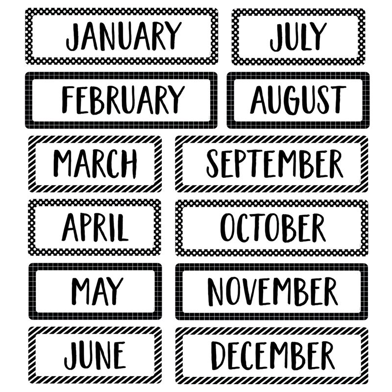 Months Of The Year Mini Bb St Core Decor