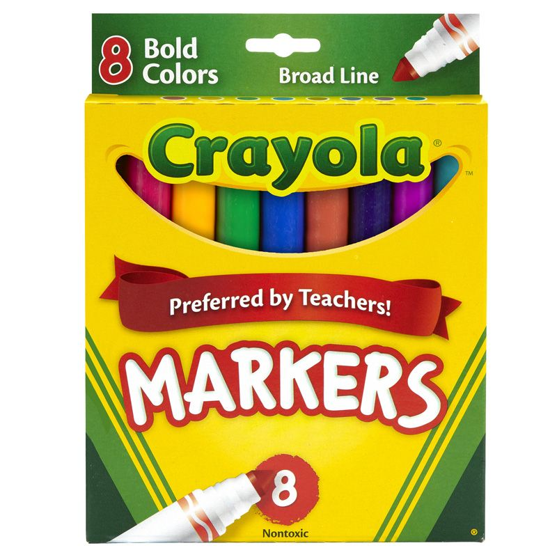 Coloring Marker Bold Conical 8Pk