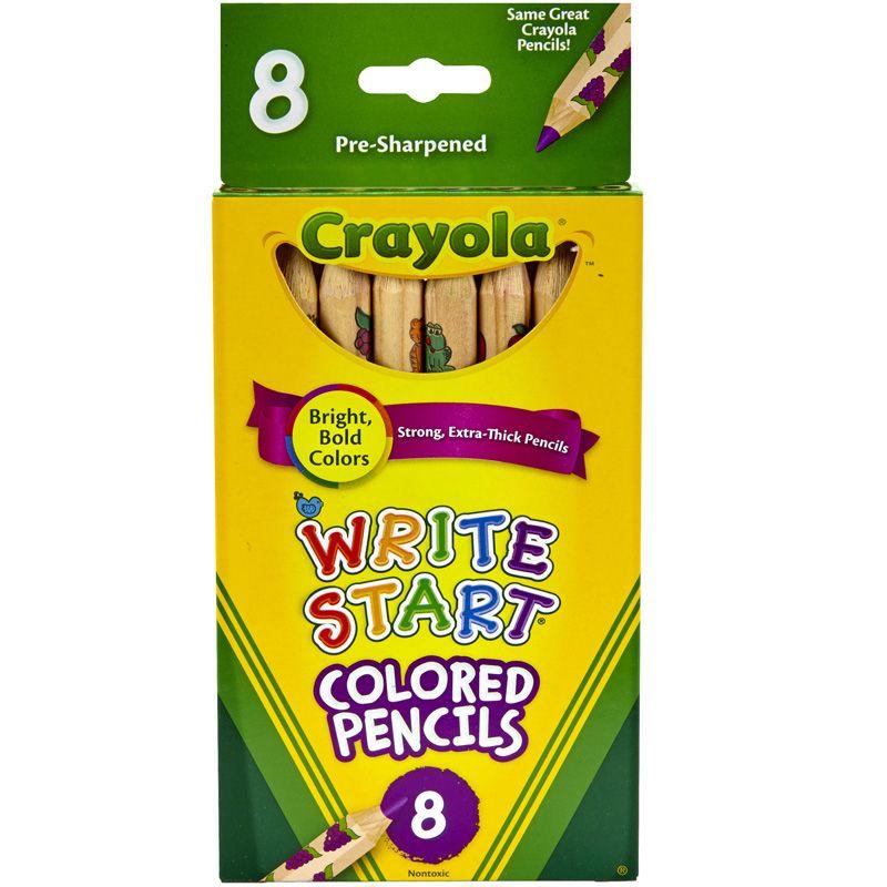 Crayola Write Start 8 Ct Colored Pencils