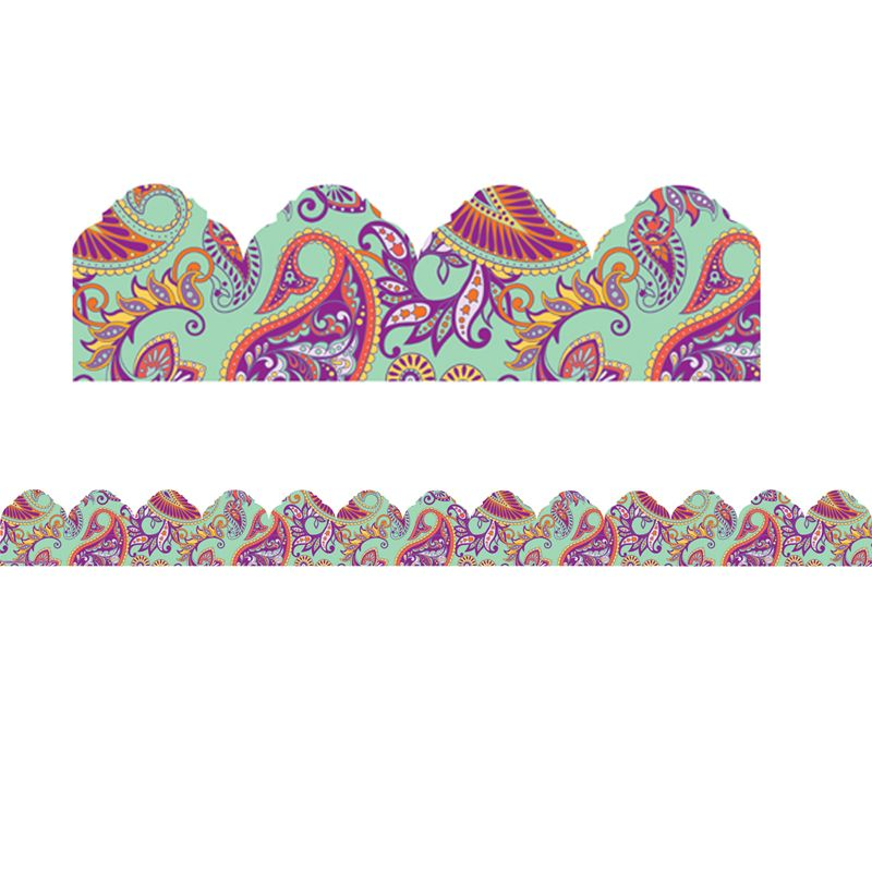Mint Paisley Arch Trim Extra Wide Positively Paisley