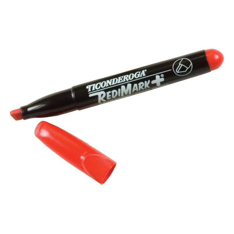 Chisel Tip Permanent Markers Red Dz Ticonderoga Redimark