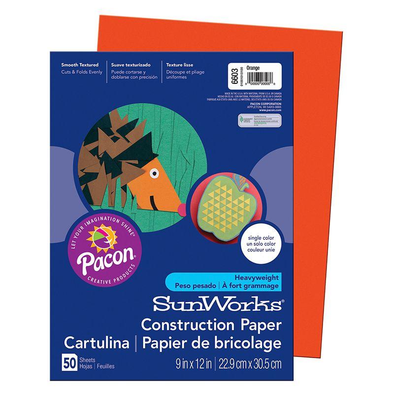 Construction Paper Orange 9X12