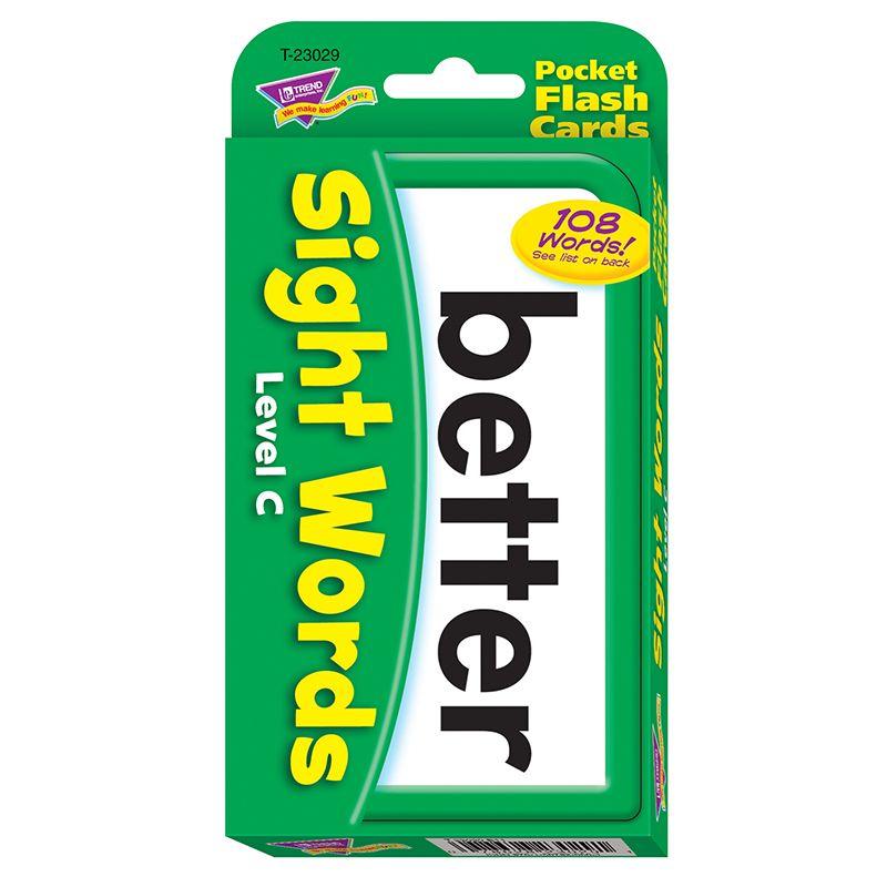 Pocket Flash Cards Sight Words c