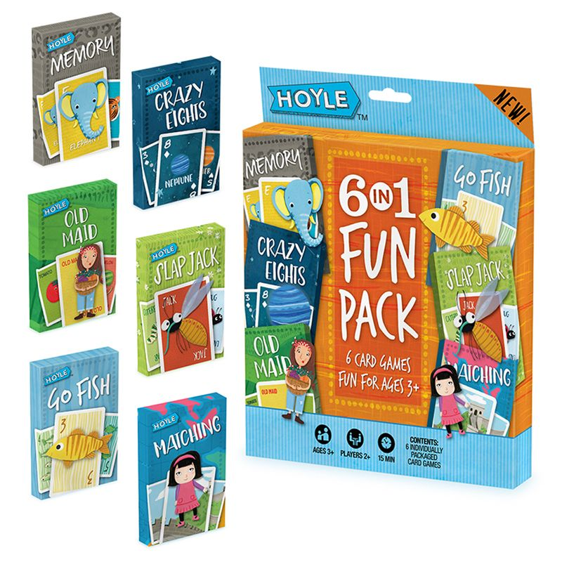 Hoyle 6 In 1 Fun Pack Classic Childrens Games
