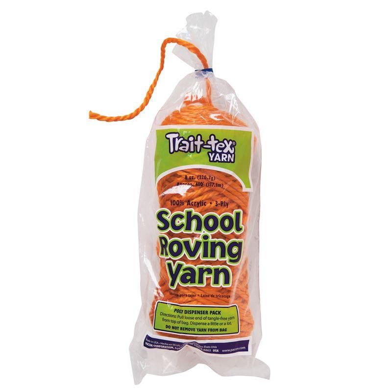 3 Ply School Roving Yarn Skein Orng