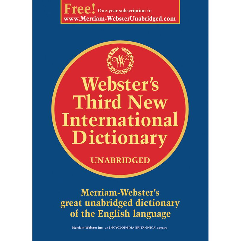 Websters 3rd New Internat Dictionry Unabridged Hardcover