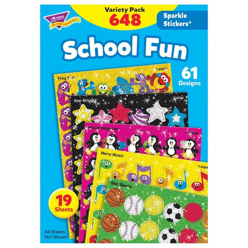 Sparkle Stickers School Fun