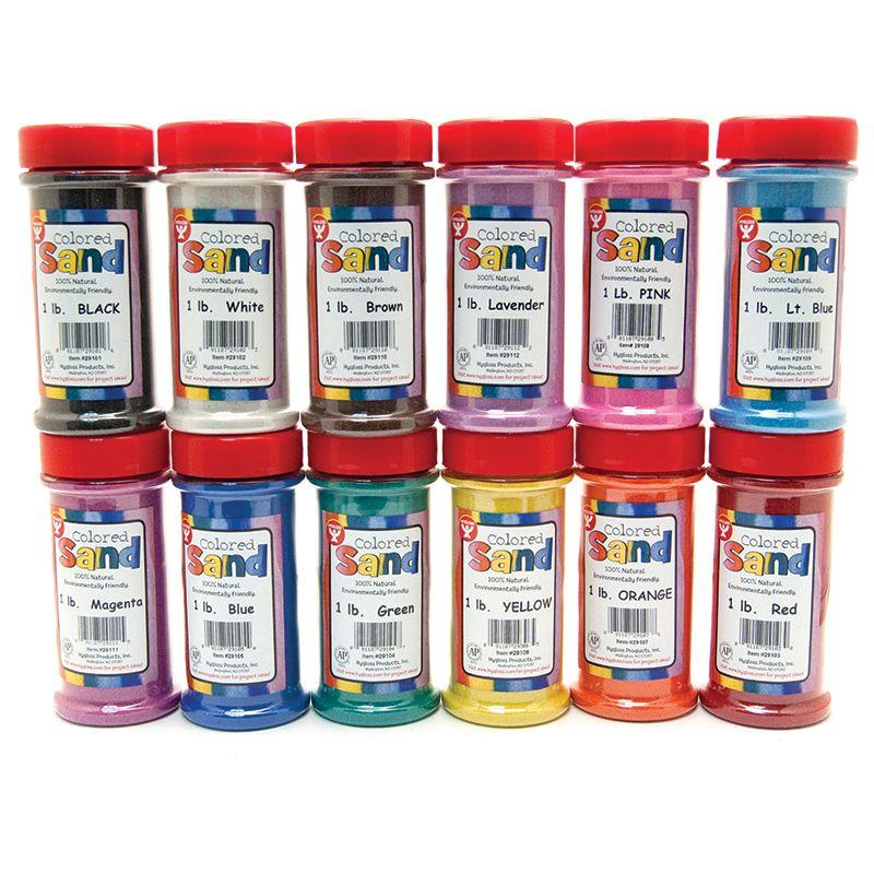 Bucket O Sand 12 Asstd Colors 1 Lb Each