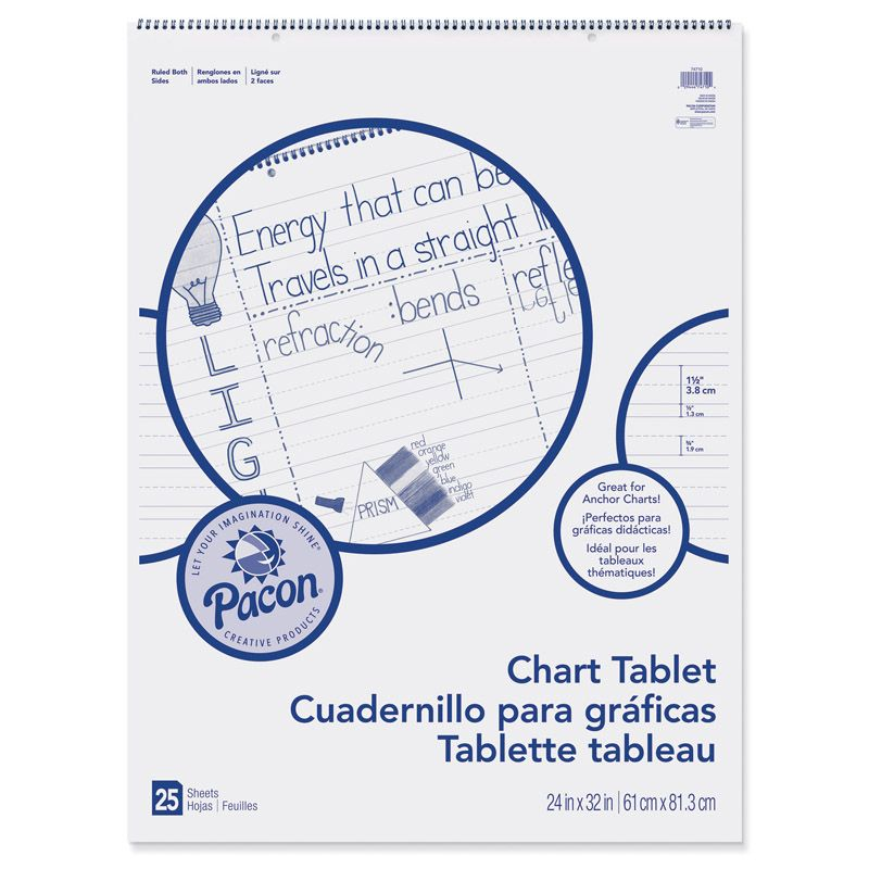 Chart Tablet 24X32 1-1/2 In Ruled 25 Sht