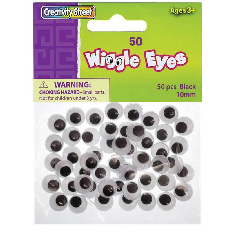 Wiggle Eyes 10Mm Black 50/Pk