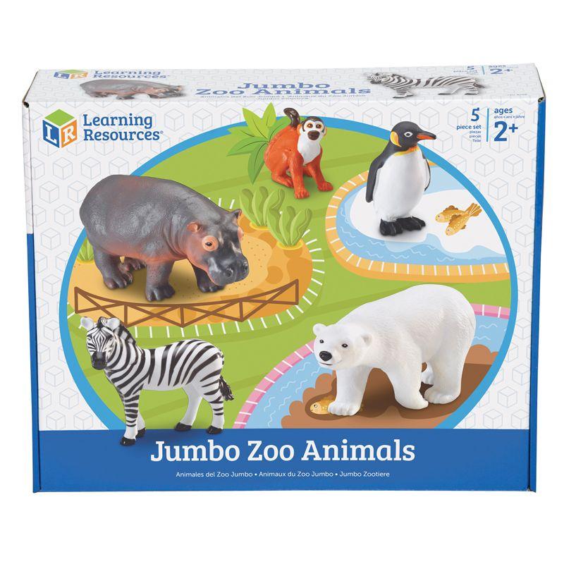 Jumbo Zoo Animals 5/Set