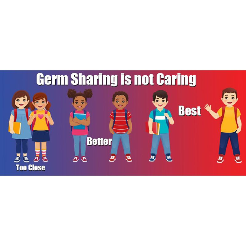 Germ Sharing Is Not Caring Wall Stickers 5pk