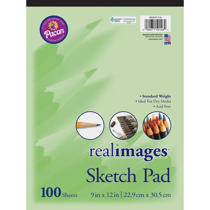Real Images Sketch Pad Stand Weight 9x12 100 Sheets