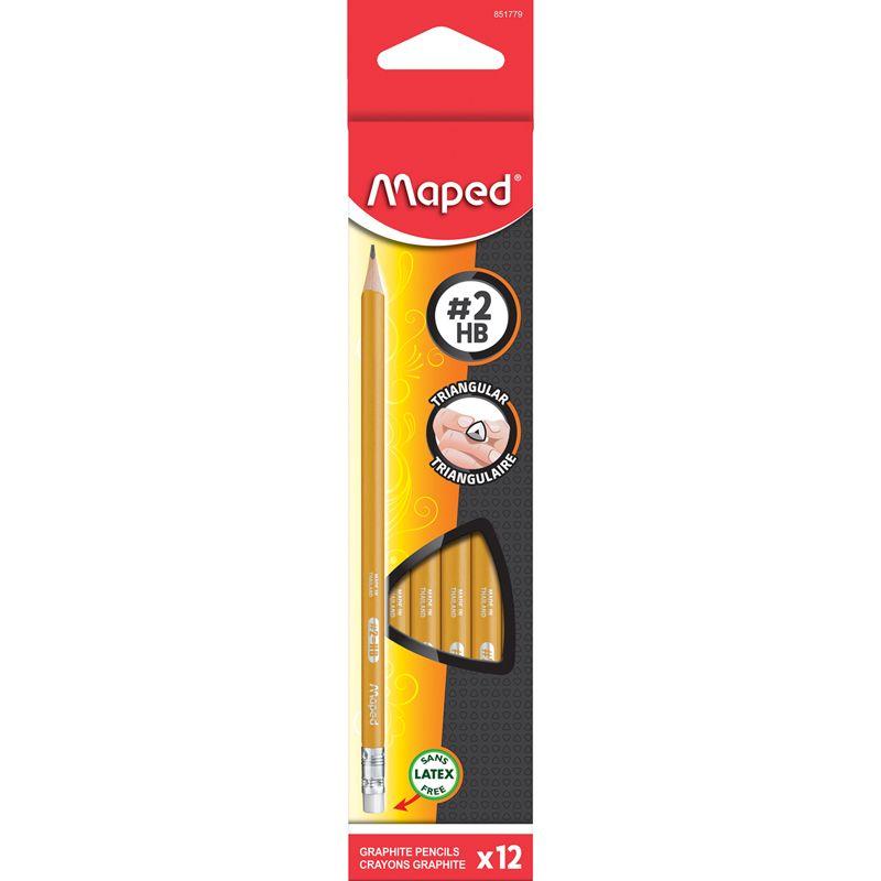 Triangular Graphite Pencils 12pk Num 2