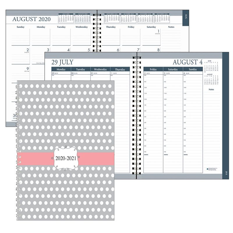 Week/month Planner Aug-july Dots Academic Hard Cover