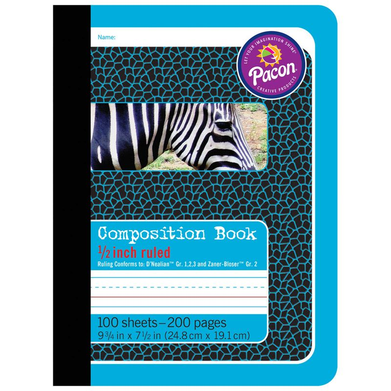 Composition Books 1/2In Ruled
