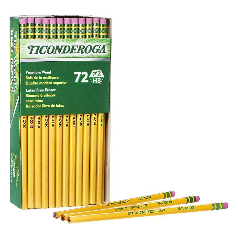 Pencils Unsharpened Box Of 72 Original Ticonderoga