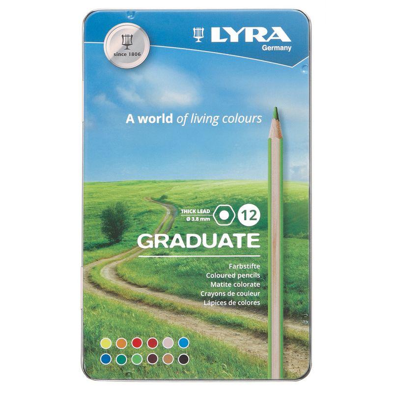 Graduate Colored Pencils Metal 12bx Lyra