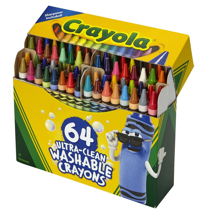 64 Ct Ultra-clean Washable Crayons Regular Size