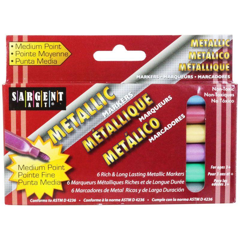 Liquid Metals Metallic 6 Ct Washable Markers