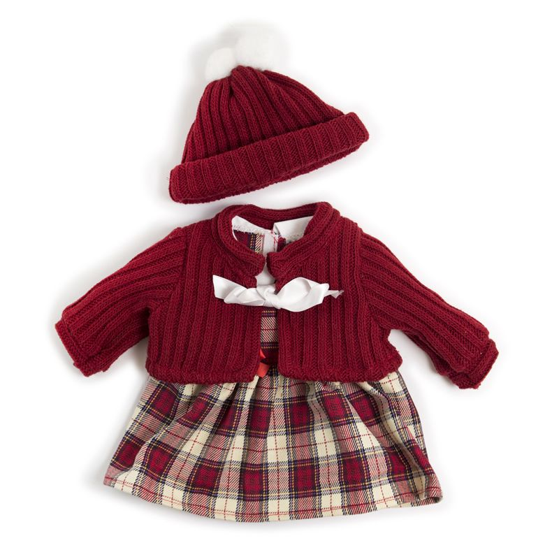 Doll Clothes Cold Weather Dress Red