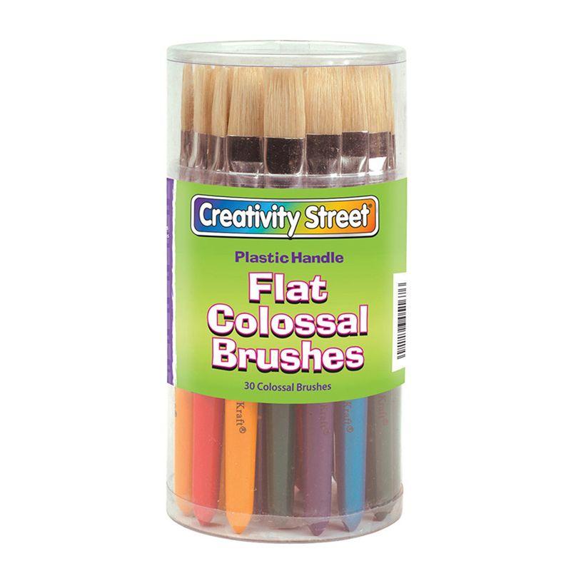Colossal Flat Handle Brush Asstd
