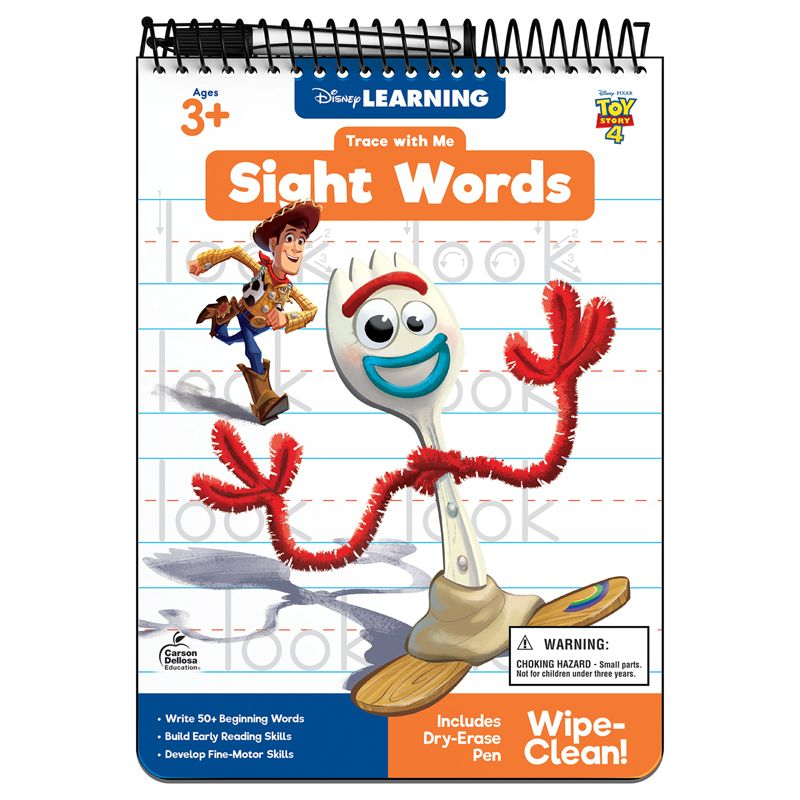 Disney Pixar Sight Words Trace With Me