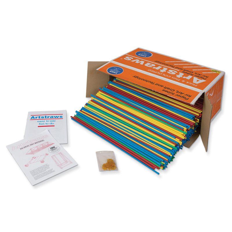 Artstraws Paper Tubes Assrtd Colors 1350 Count