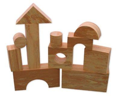 Wood Like Soft Blocks – 30Pcs