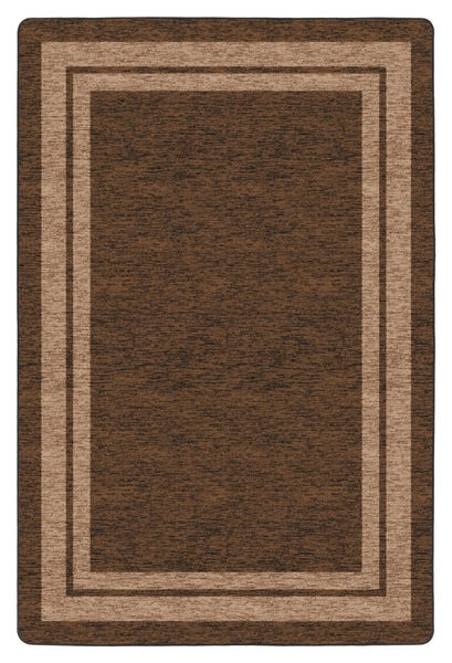 Flagship Carpets Double Border: Chocolate