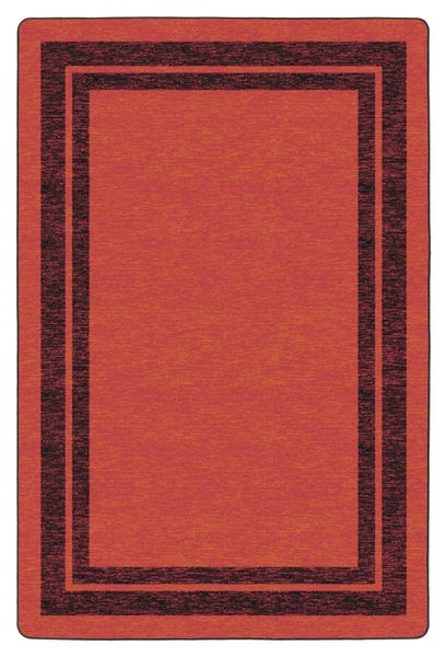 Flagship Carpets Double Border: Red