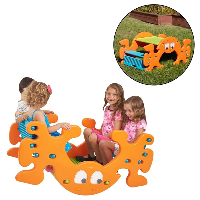Phanty Pic-n-rock, Indoor/outdoor Multipurpose Picnic Table And Seesaw