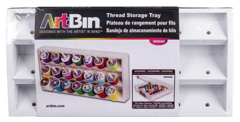 Thread Storage Tray - White
