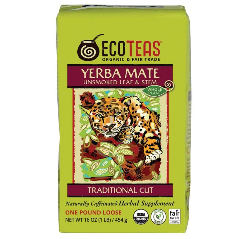 Ecoteas Unsmoked Leaf & Stem Yerba Mate Tea 1 Lb.
