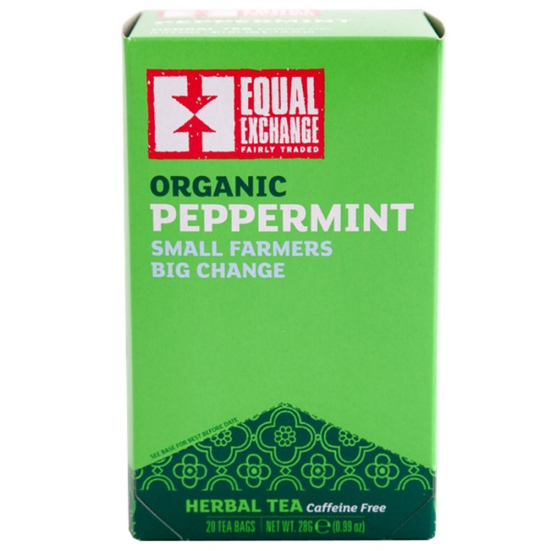 Equal Exchange Organic Peppermint Herbal Tea 20 Tea Bags