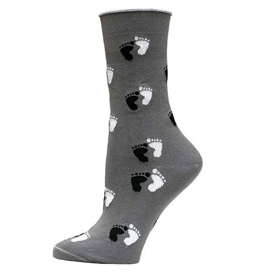 Maggie's Functional Organics Gray S T A N D Cotton Trouser Socks 9-11