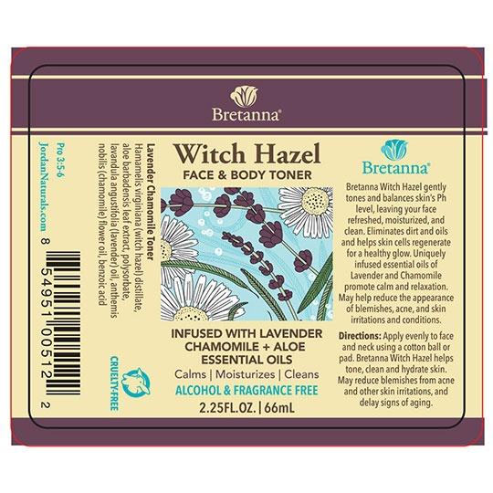 Bretanna Lavender Chamomile Witch Hazel 2.25 Fl. Oz.