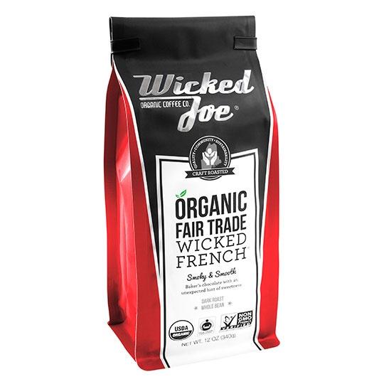 Wicked Joe Coffee Wicked French Roast Whole Bean Coffee 12 Oz