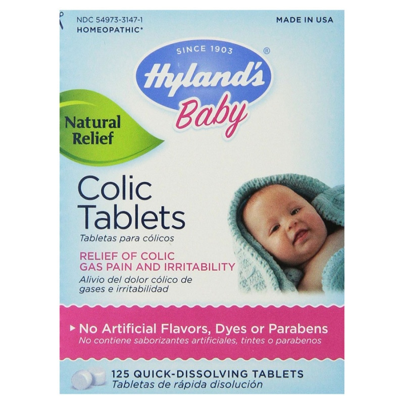 Hyland's Colic Fast Dissolving Tablets 125 Tablets