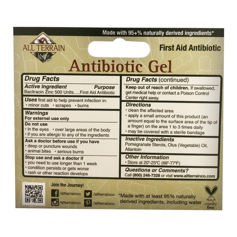 All Terrain First Aid Antibiotic Gel 0.5 Fl. Oz.