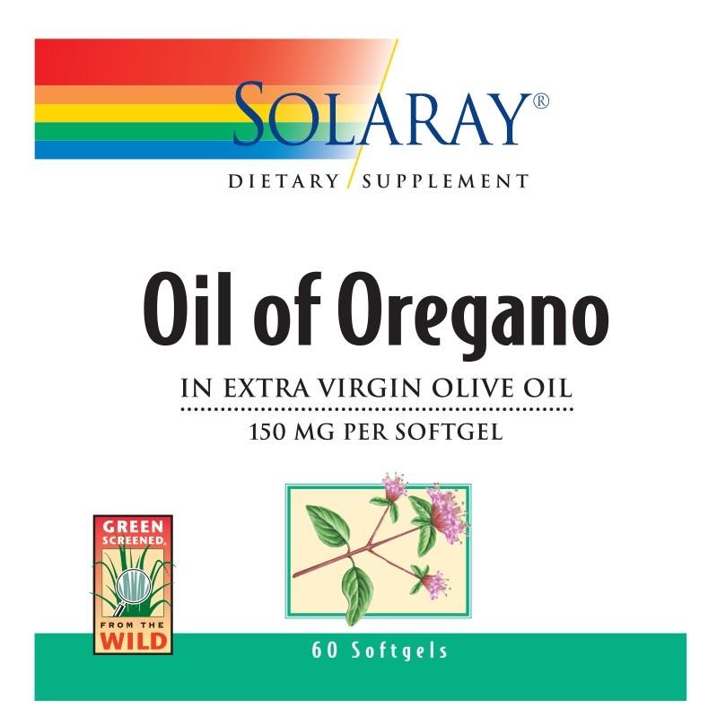 Solaray Oil Of Oregano 60 Count