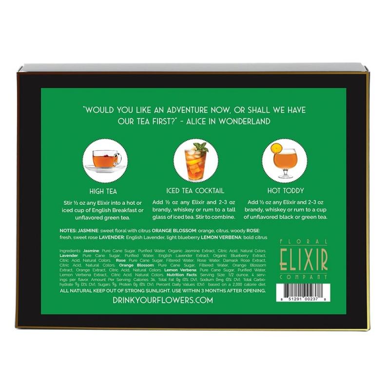 Floral Elixir Co. Tea Lovers Cocktail Kit (5) 2 Fl. Oz. Bottles